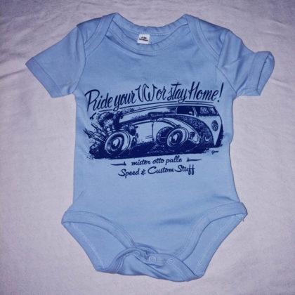 Body neonato BUS VW azzurro