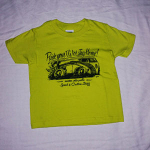 T-shirt bambino BUS VW lime
