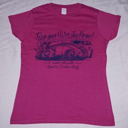 T-shirt-donna-BUS-VW-fucsia-melange